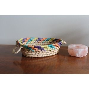 VTG Woven Colorful Rattan Basket